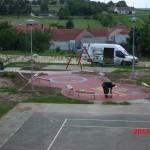 Domanín - výstavba dětského hřiště