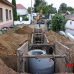 Rohatec - ulice Slovácká - kanalizace, vodovod, komunikace