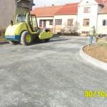 Starý Poddvorov - komunikace u ZŠ