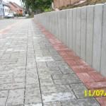 Dolní Bojanovice - chodníky za hřbitovem